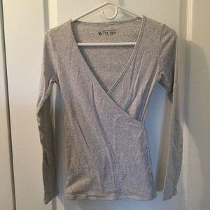 Victoria Secret long sleeve cross front top